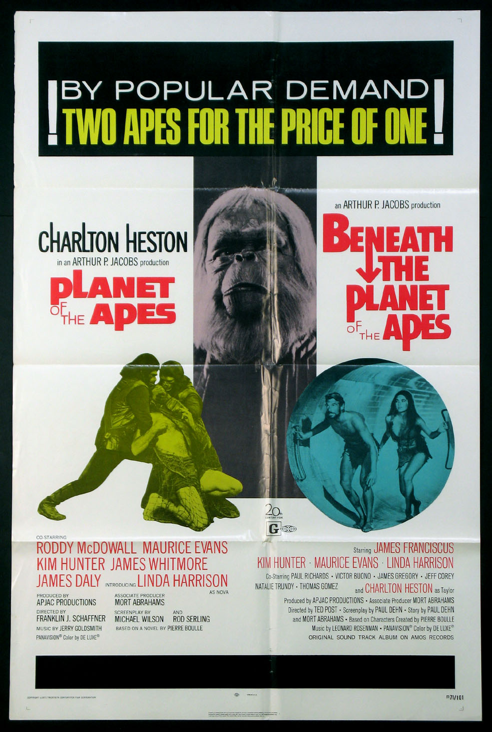 PLANET OF THE APES / BENEATH THE PLANET OF THE APES @ FilmPosters.com