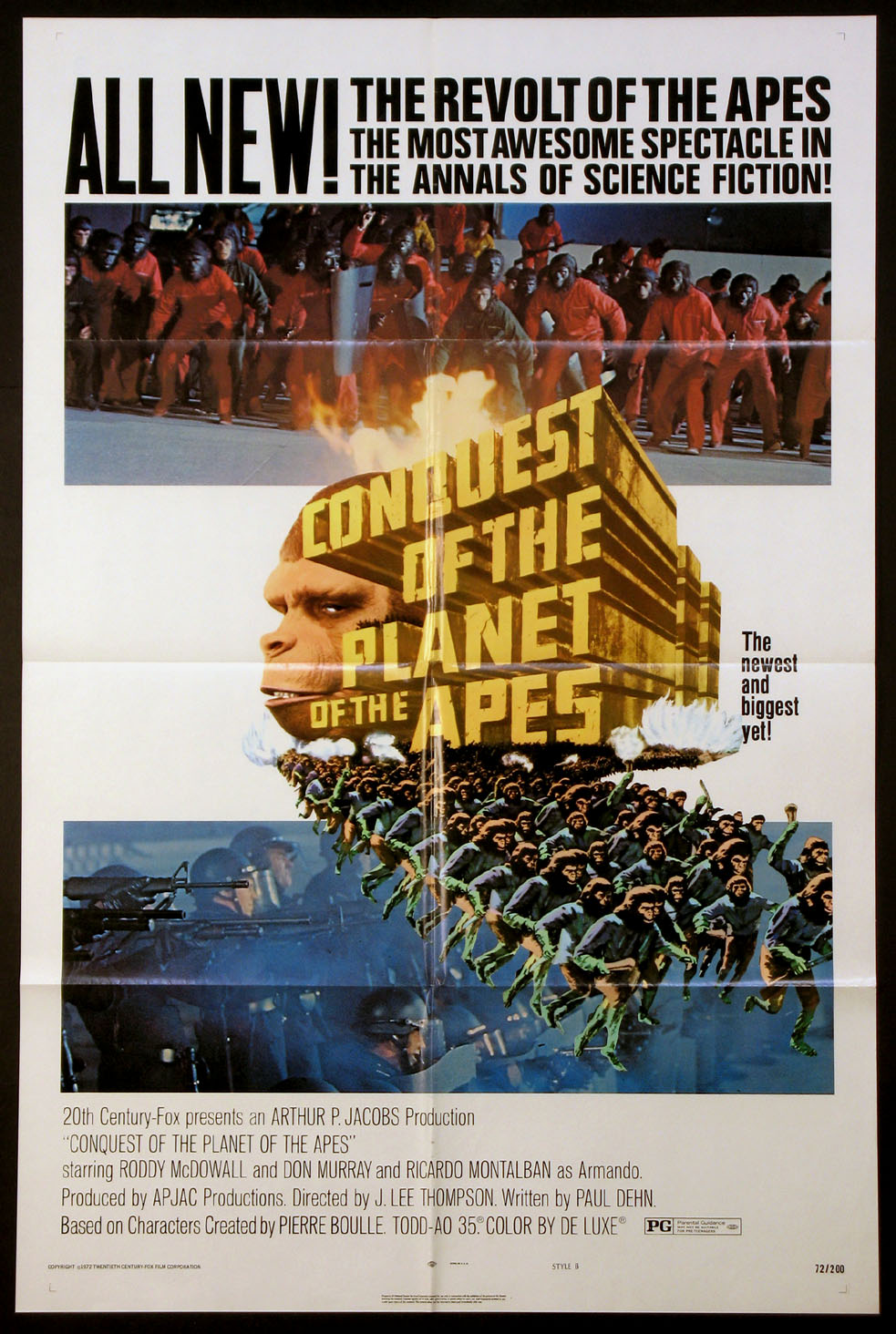 CONQUEST OF THE PLANET OF THE APES @ FilmPosters.com