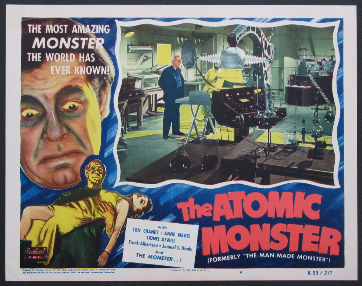 ATOMIC MONSTER, THE (The Man-Made Monster) @ FilmPosters.com