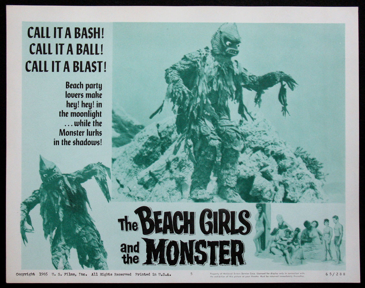 BEACH GIRLS AND THE MONSTER FilmPosters