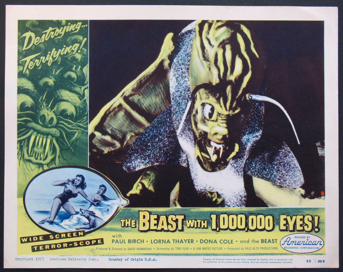 BEAST WITH 1,000,000 EYES (MILLION) @ FilmPosters.com