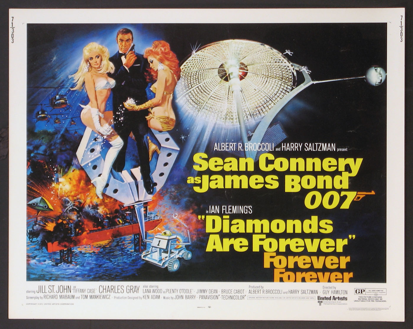 DIAMONDS ARE FOREVER (James Bond) @ FilmPosters.com