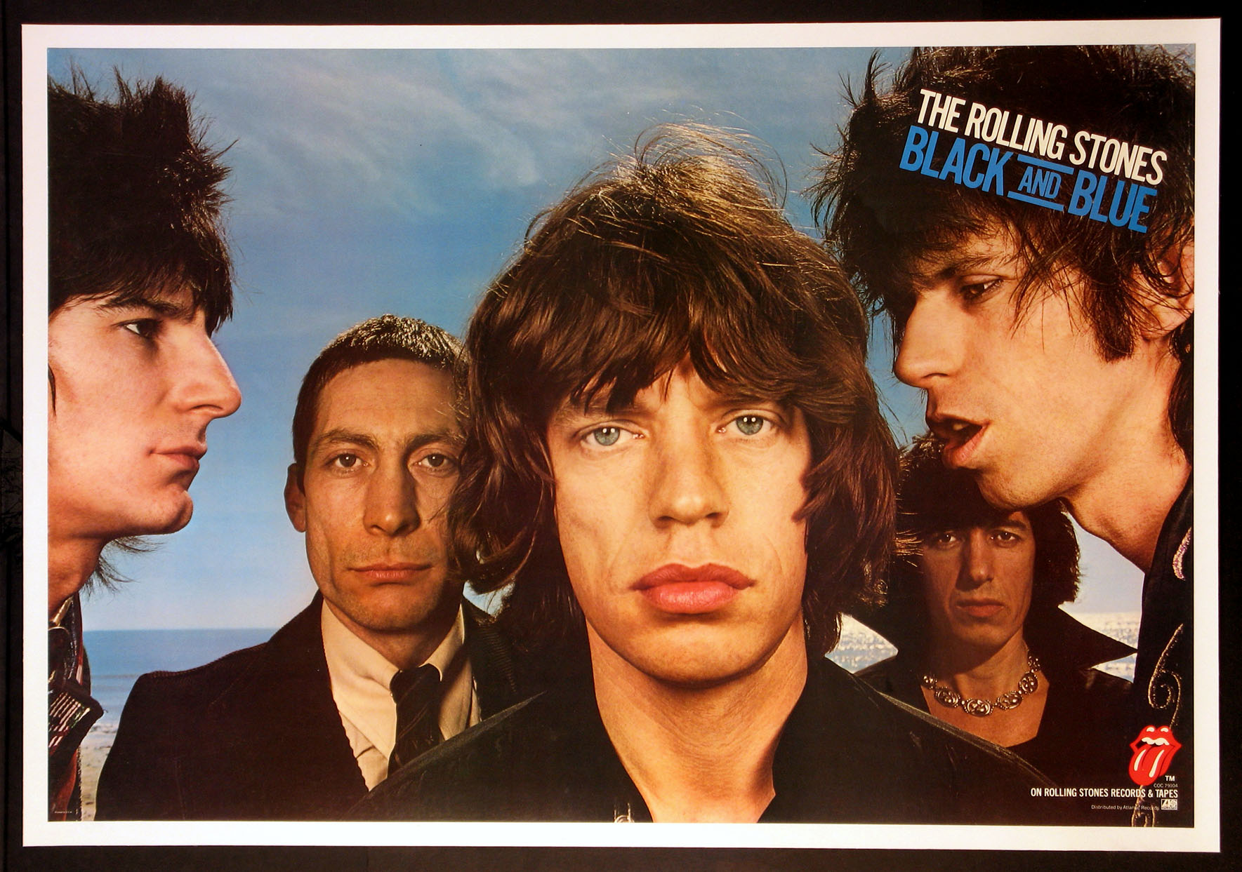 ROLLING STONES BLACK AND BLUE ALBUM PROMOTIONAL POSTER @ FilmPosters.com