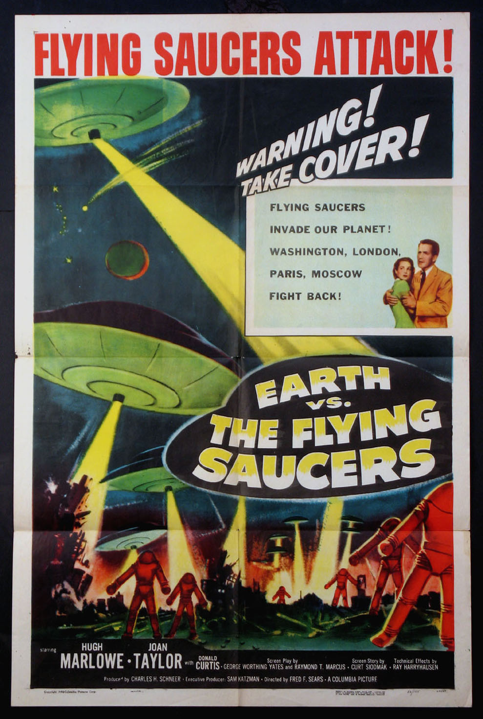 EARTH VS. THE FLYING SAUCERS @ FilmPosters.com