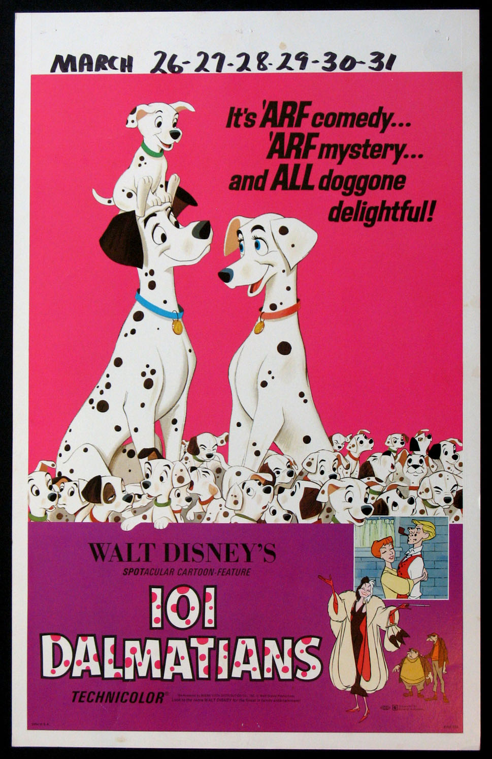 ONE HUNDRED AND ONE DALMATIONS (101 Dalmations) @ FilmPosters.com