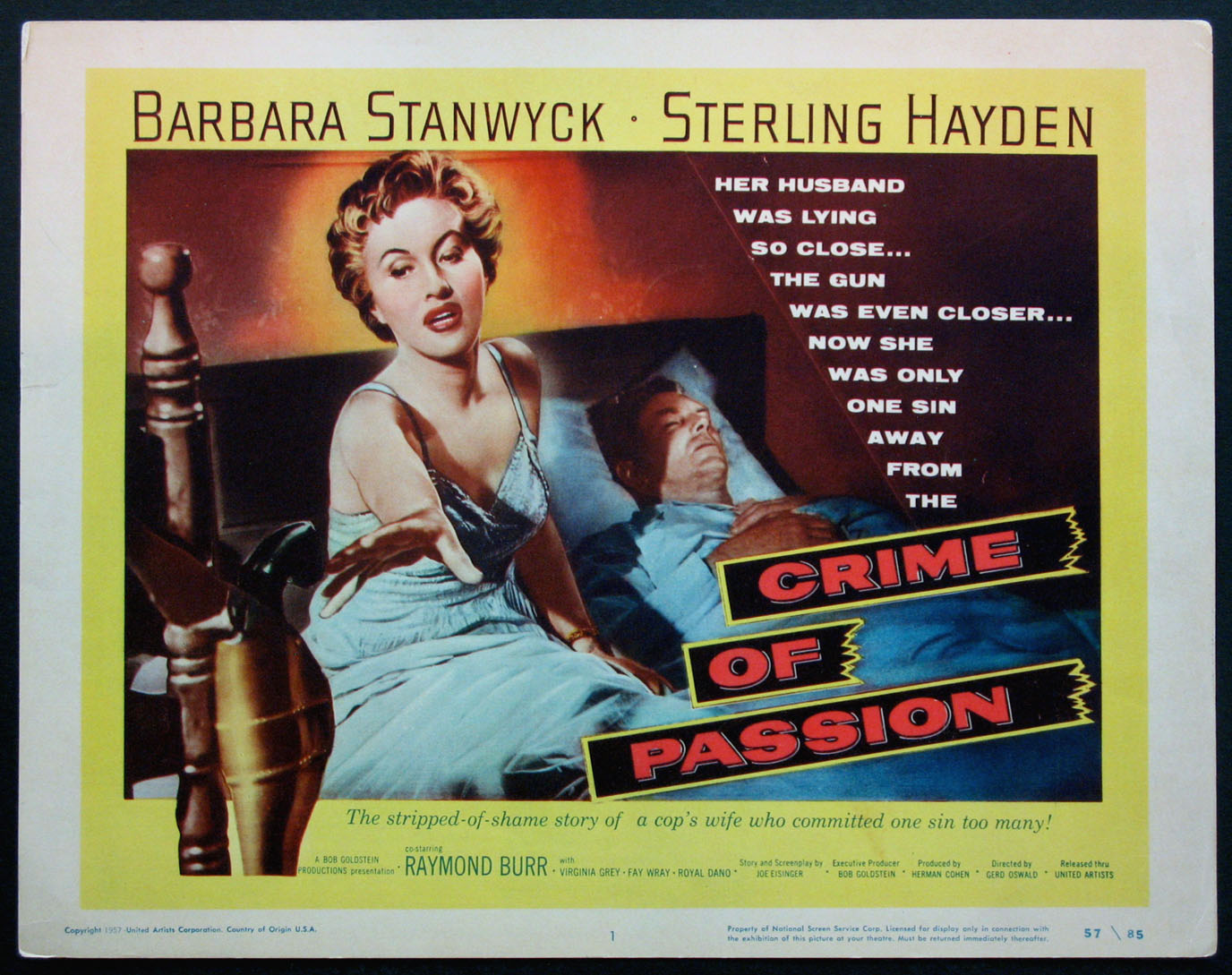 CRIME OF PASSION @ FilmPosters.com