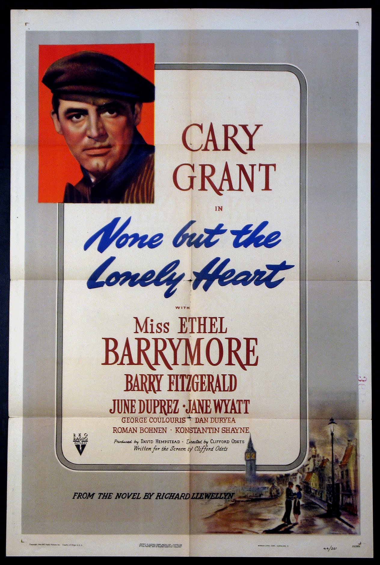 4ac0f07c6 NONE BUT THE LONELY HEART Movie Poster (1944)