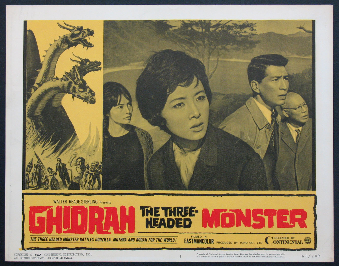 GHIDRAH THE THREE-HEADED MONSTER @ FilmPosters.com