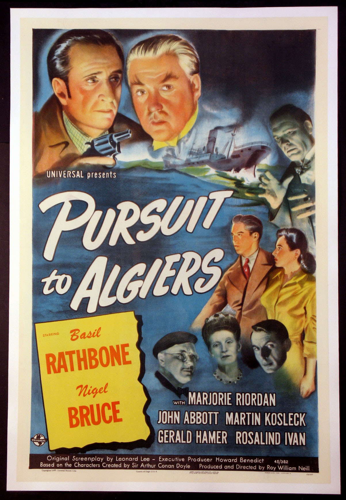 PURSUIT TO ALGIERS (Sherlock Holmes series) @ FilmPosters.com