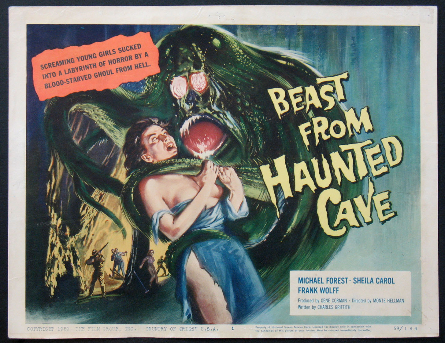 BEAST FROM HAUNTED CAVE @ FilmPosters.com