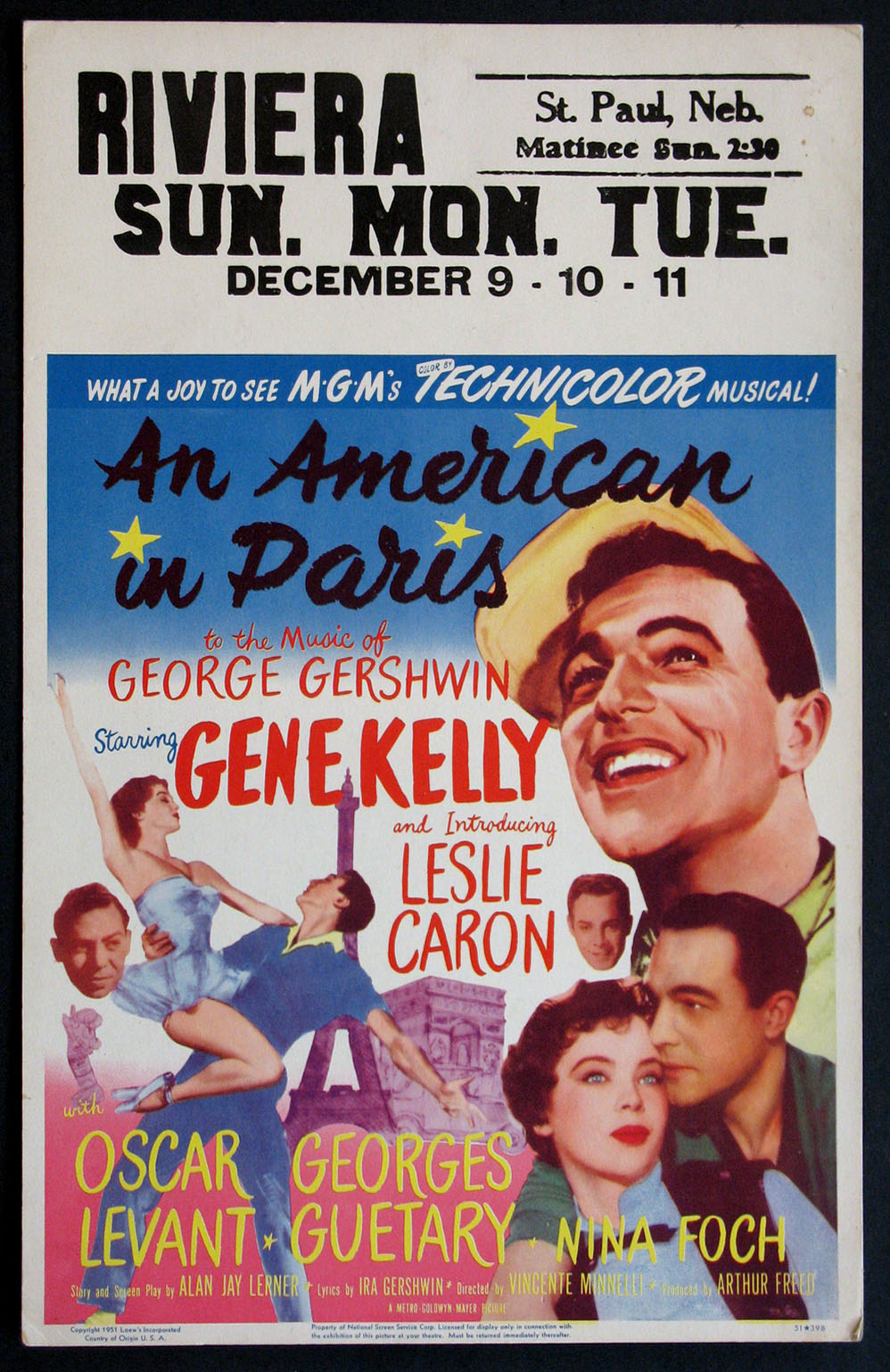 AMERICAN IN PARIS, AN @ FilmPosters.com