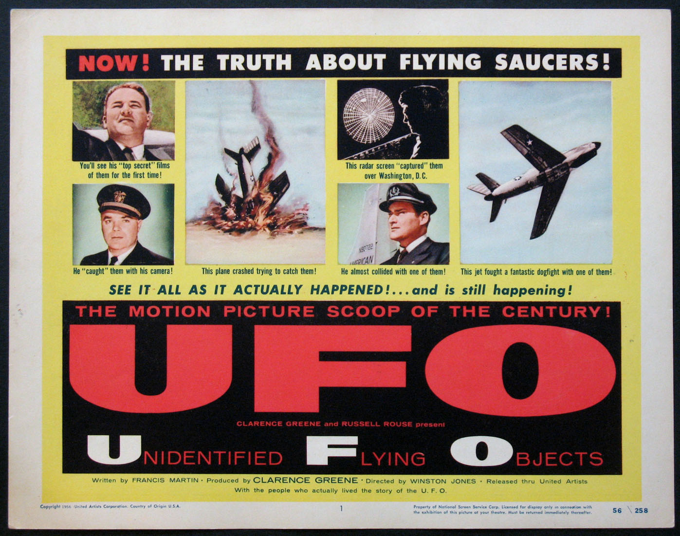 U.F.O. (UFO Unidentified Flying Objects) @ FilmPosters.com