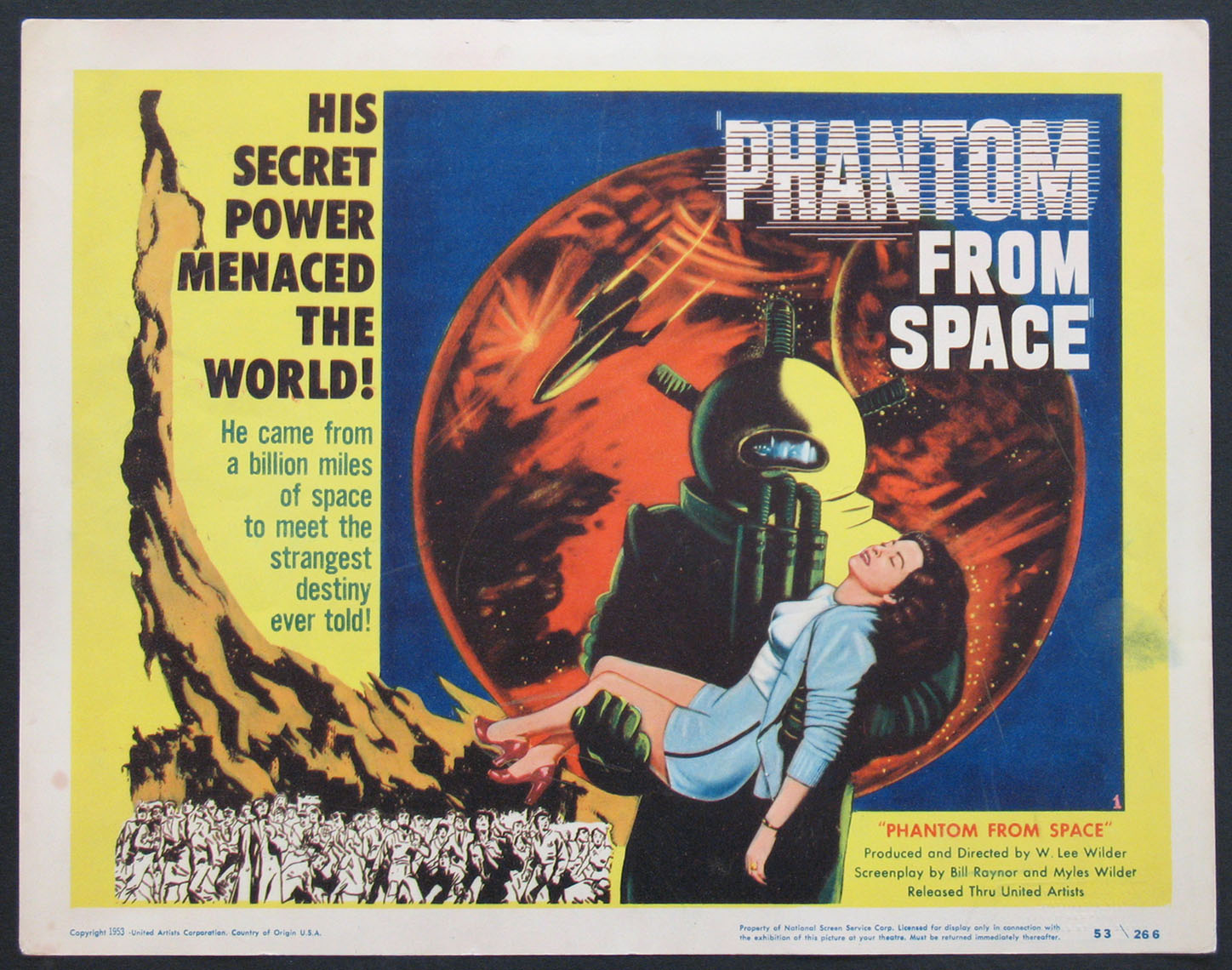 PHANTOM FROM SPACE @ FilmPosters.com