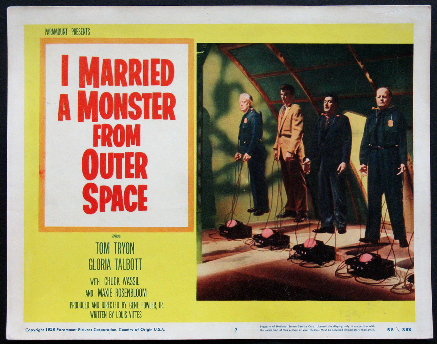 I MARRIED A MONSTER FROM OUTER SPACE @ FilmPosters.com
