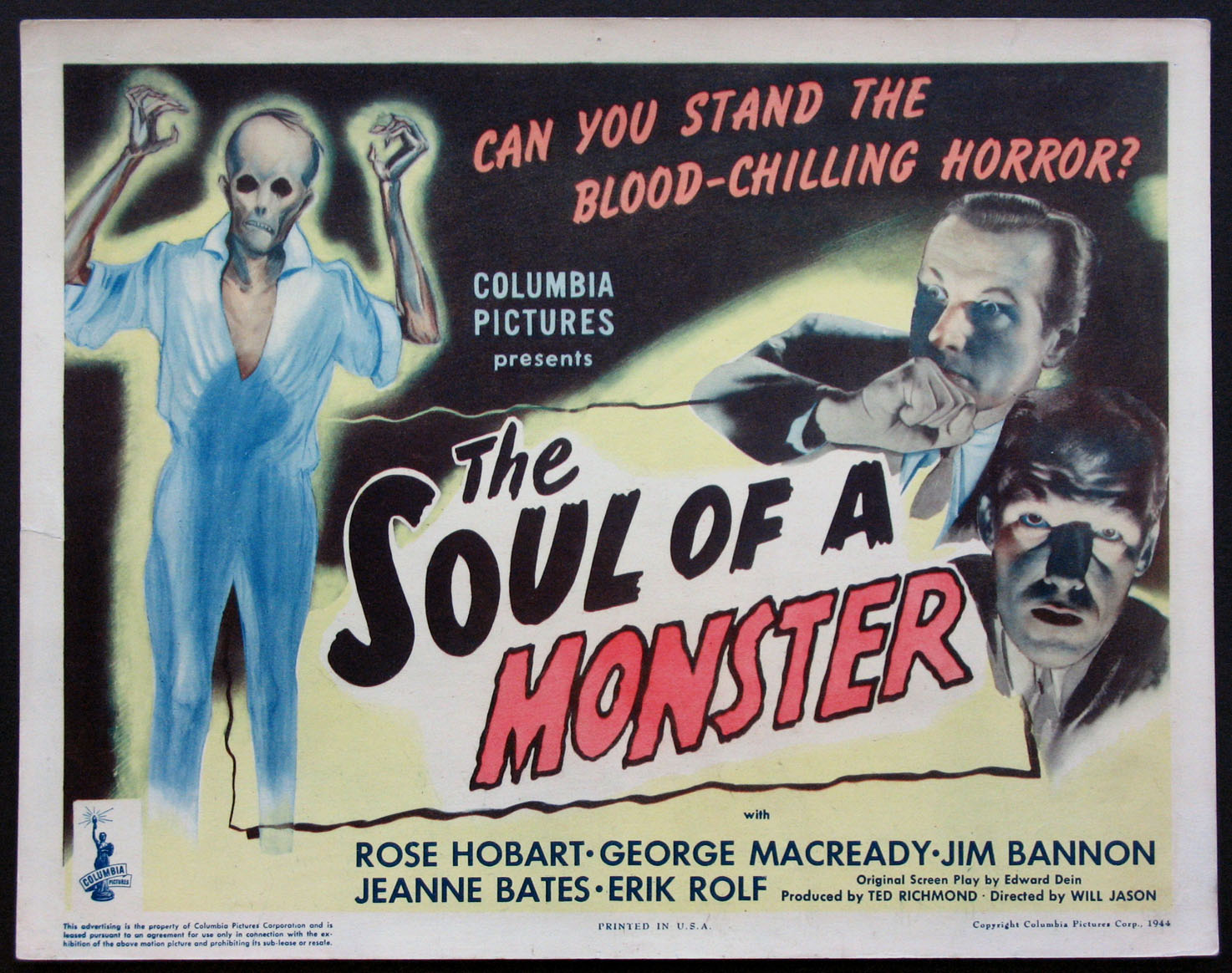 SOUL OF A MONSTER, THE @ FilmPosters.com