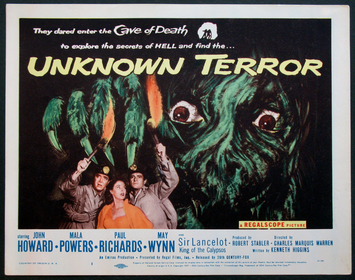 UNKNOWN TERROR, THE @ FilmPosters.com