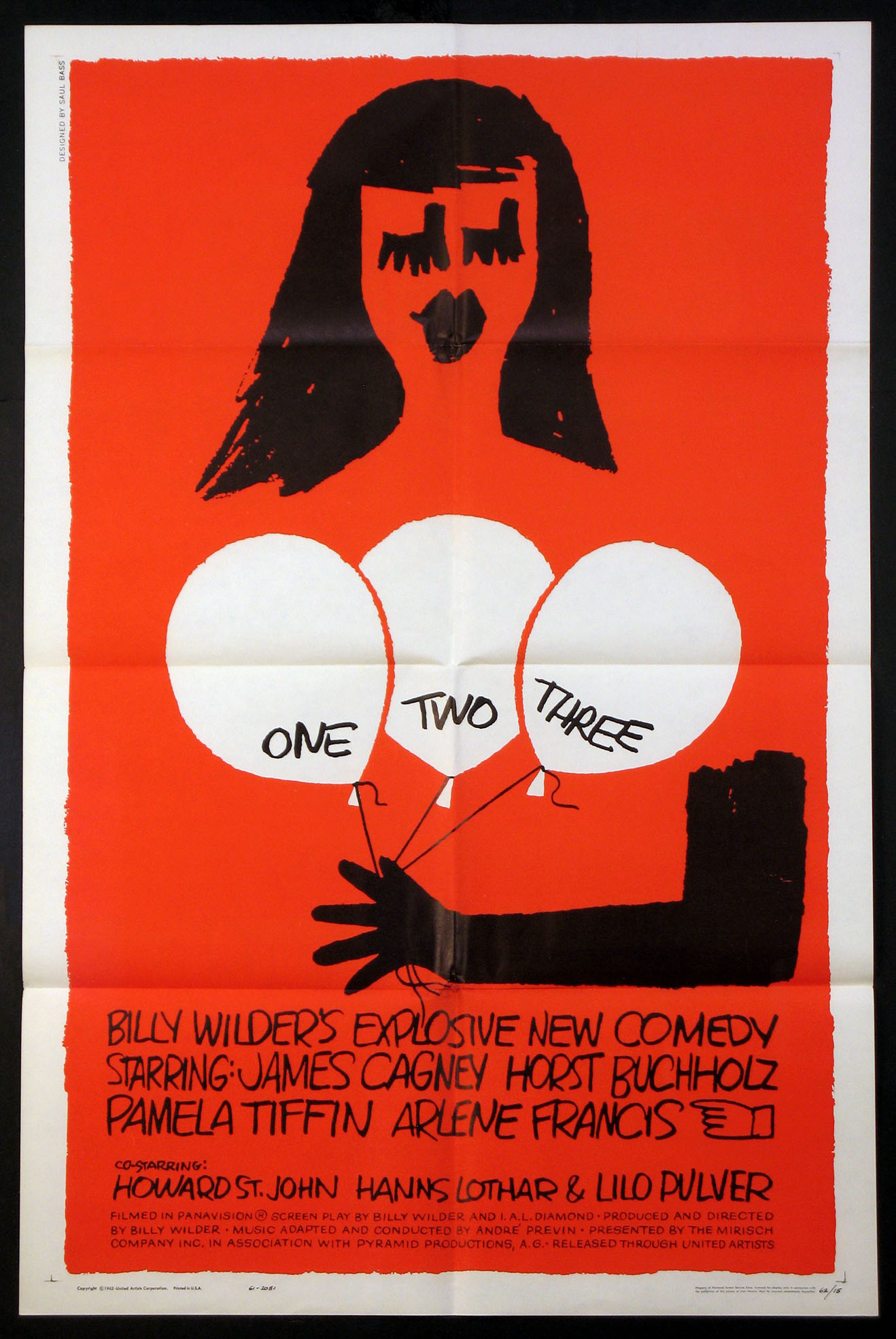 ONE, TWO, THREE (One Two Three) @ FilmPosters.com