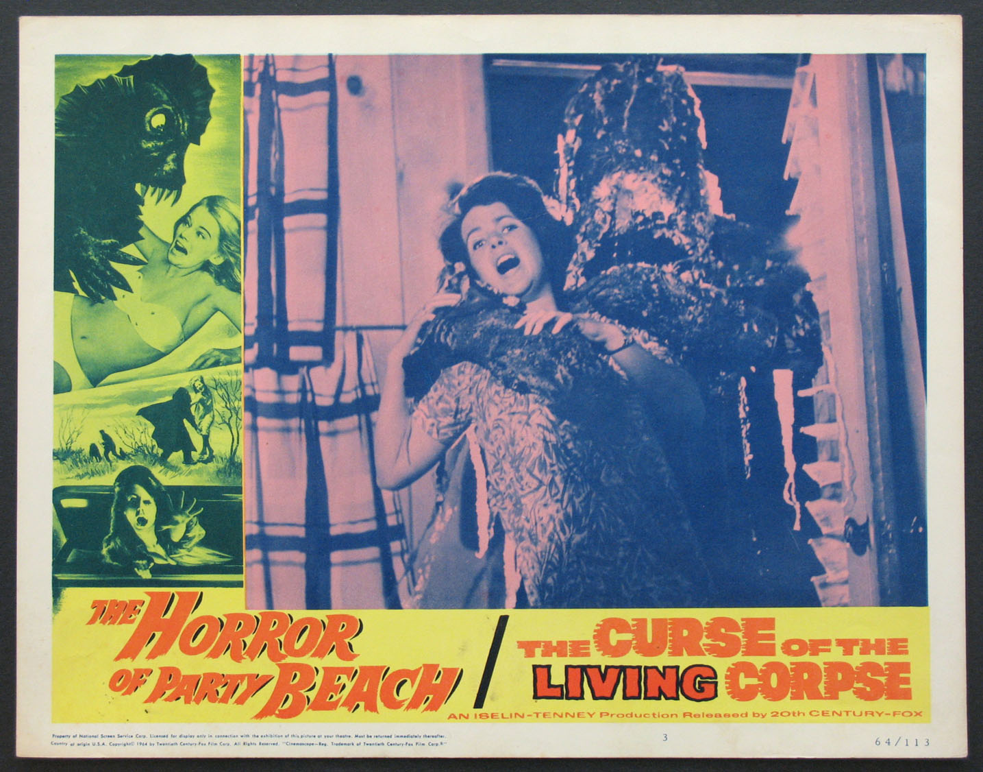 HORROR OF PARTY BEACH / CURSE OF LIVING CORPSE @ FilmPosters.com