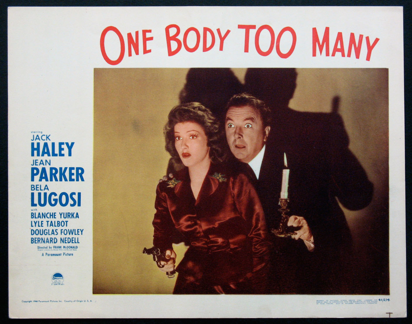 ONE BODY TOO MANY @ FilmPosters.com