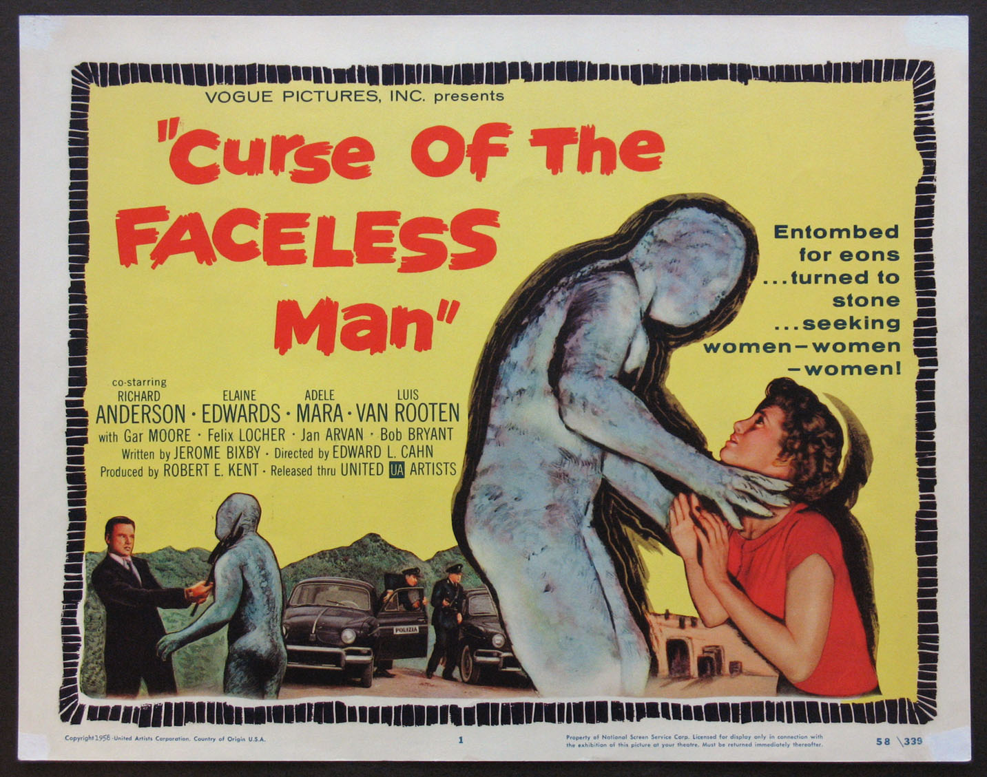 CURSE OF THE FACELESS MAN @ FilmPosters.com