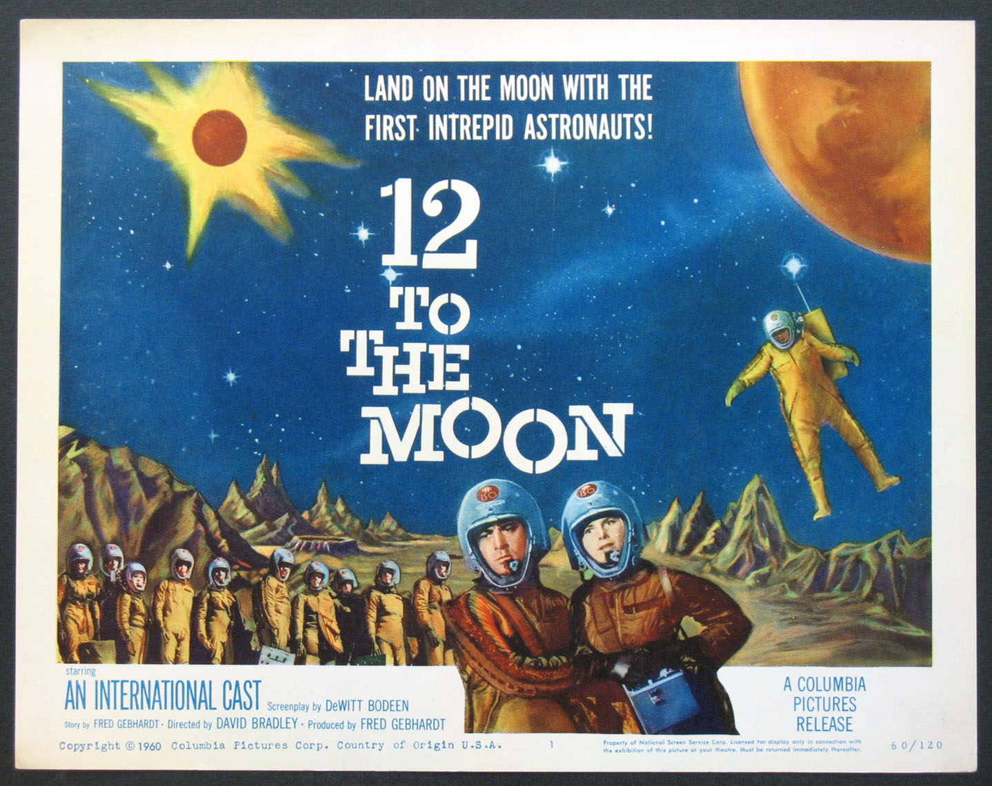 12 TO THE MOON (Twelve to the Moon) @ FilmPosters.com