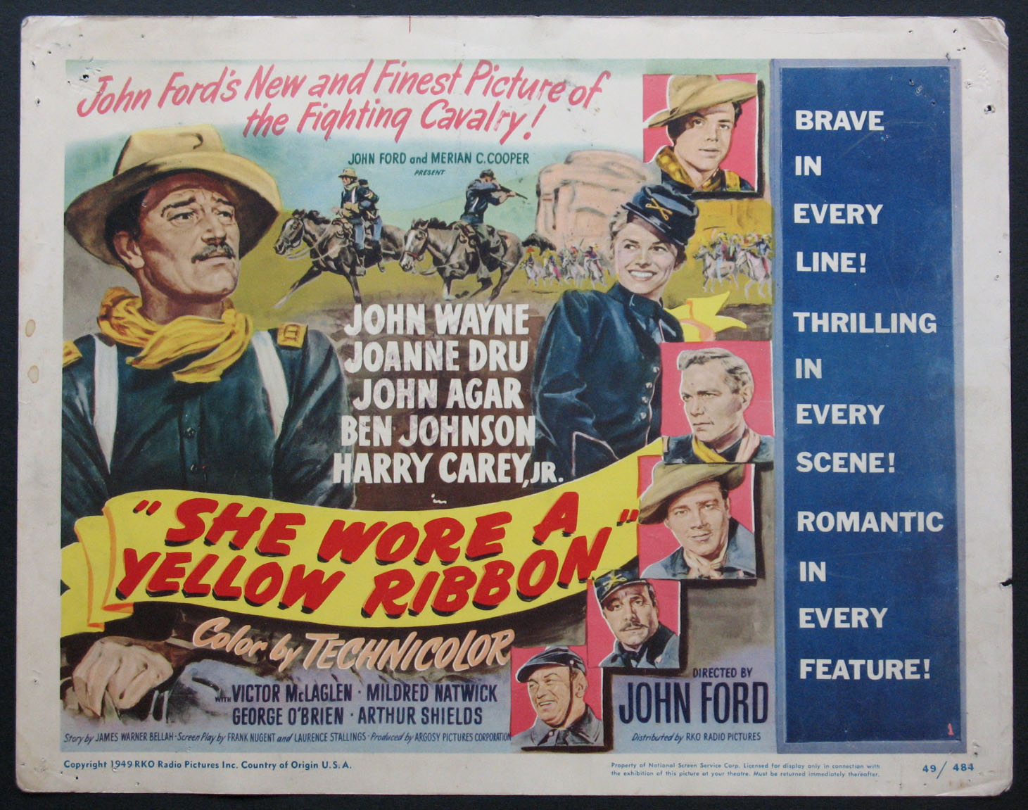 SHE WORE A YELLOW RIBBON @ FilmPosters.com