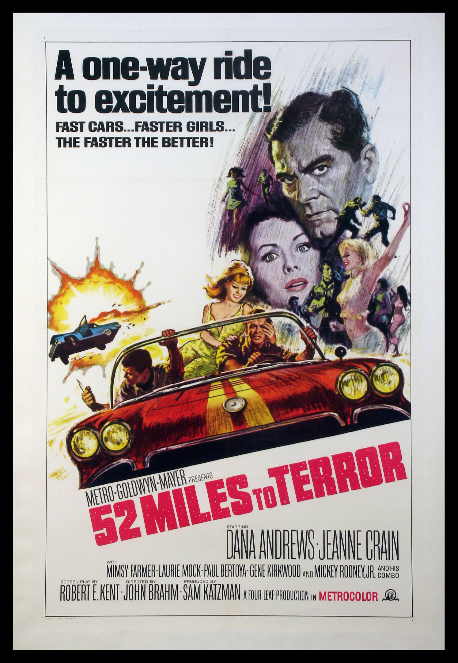 52 MILES TO TERROR (AKA HOT RODS TO HELL) @ FilmPosters.com