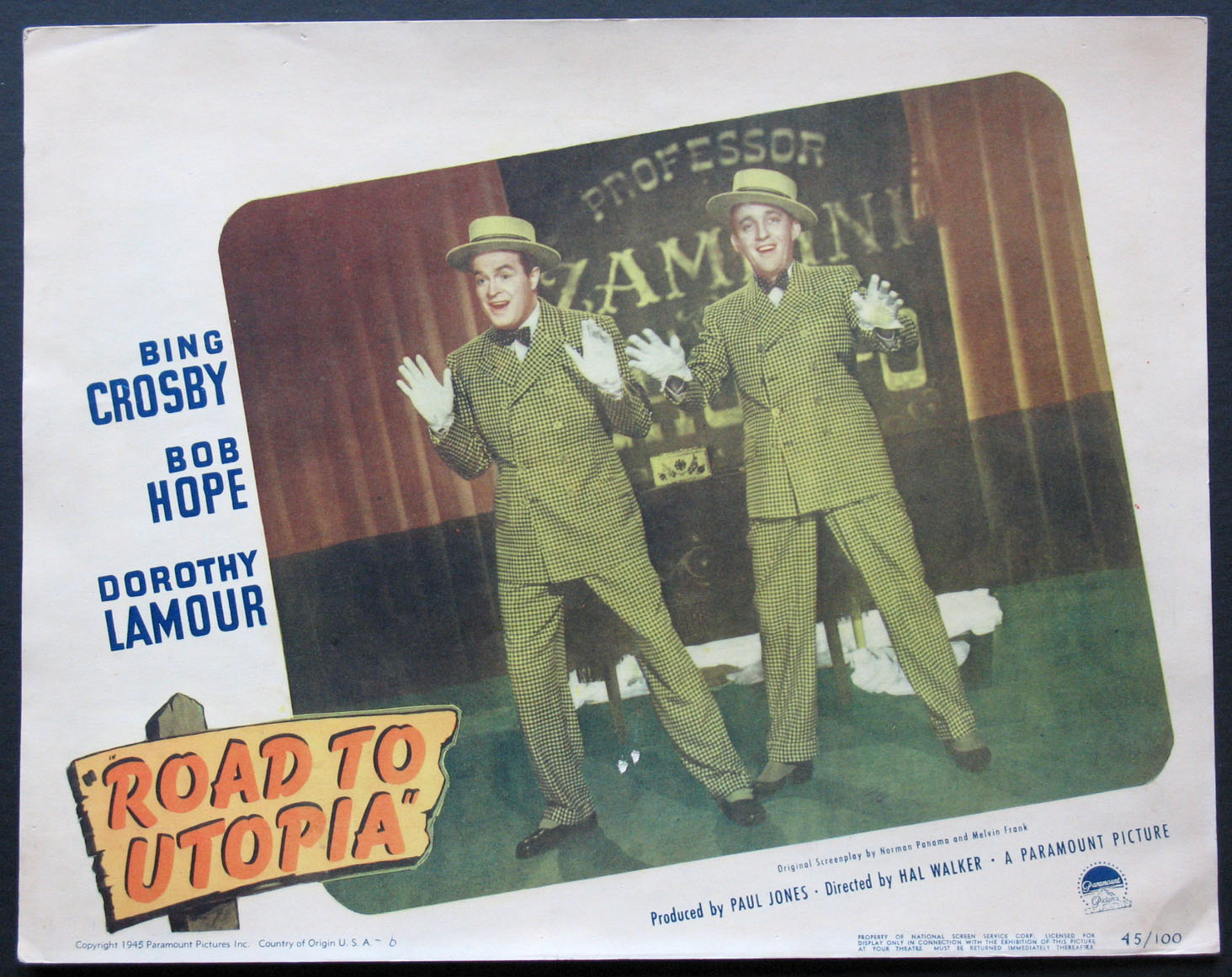 ROAD TO UTOPIA Movie Poster (1945)