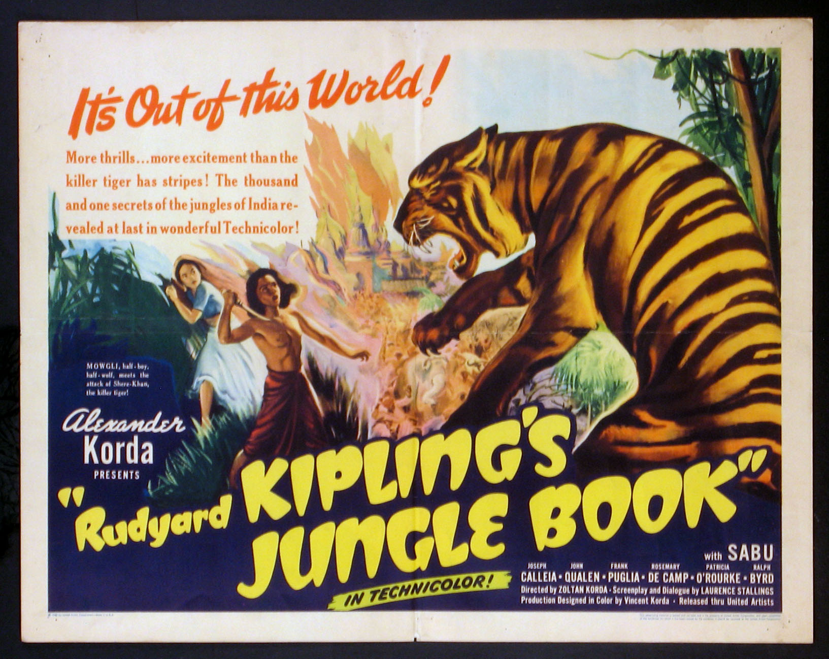 JUNGLE BOOK (Rudyard Kipling's) @ FilmPosters.com