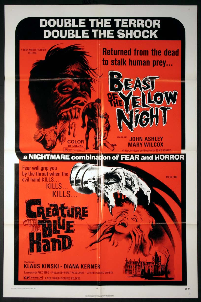 BEAST OF THE YELLOW NIGHT / CREATURE WITH THE BLUE HAND @ FilmPosters.com