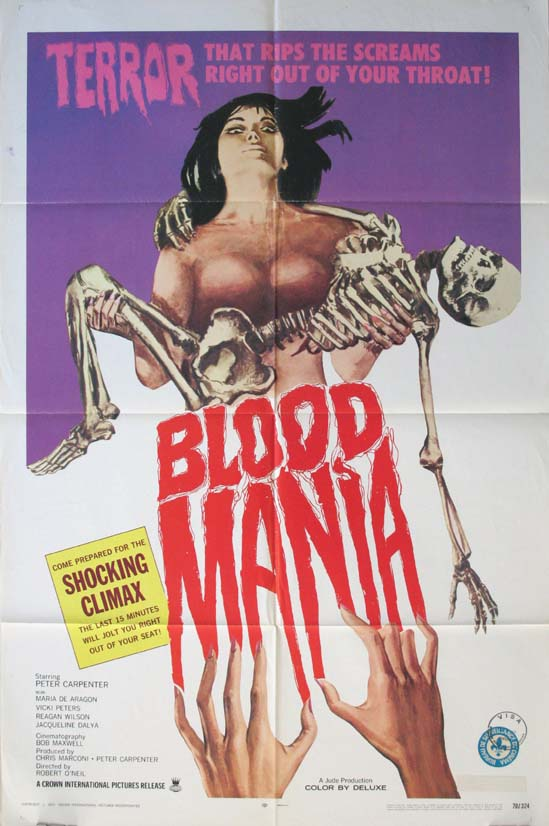 BLOOD MANIA @ FilmPosters.com