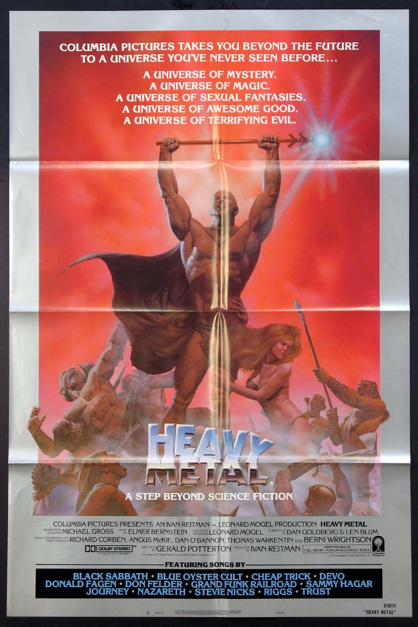 Heavy Metal Movie Poster 1981 Movie Posters Lobby Cards Vintage Movie Memorabilia 1920s To Present Film Posters