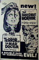 INVISIBLE HORROR / TERROR OF MAD DOCTOR @ FilmPosters.com