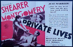 PRIVATE LIVES @ FilmPosters.com