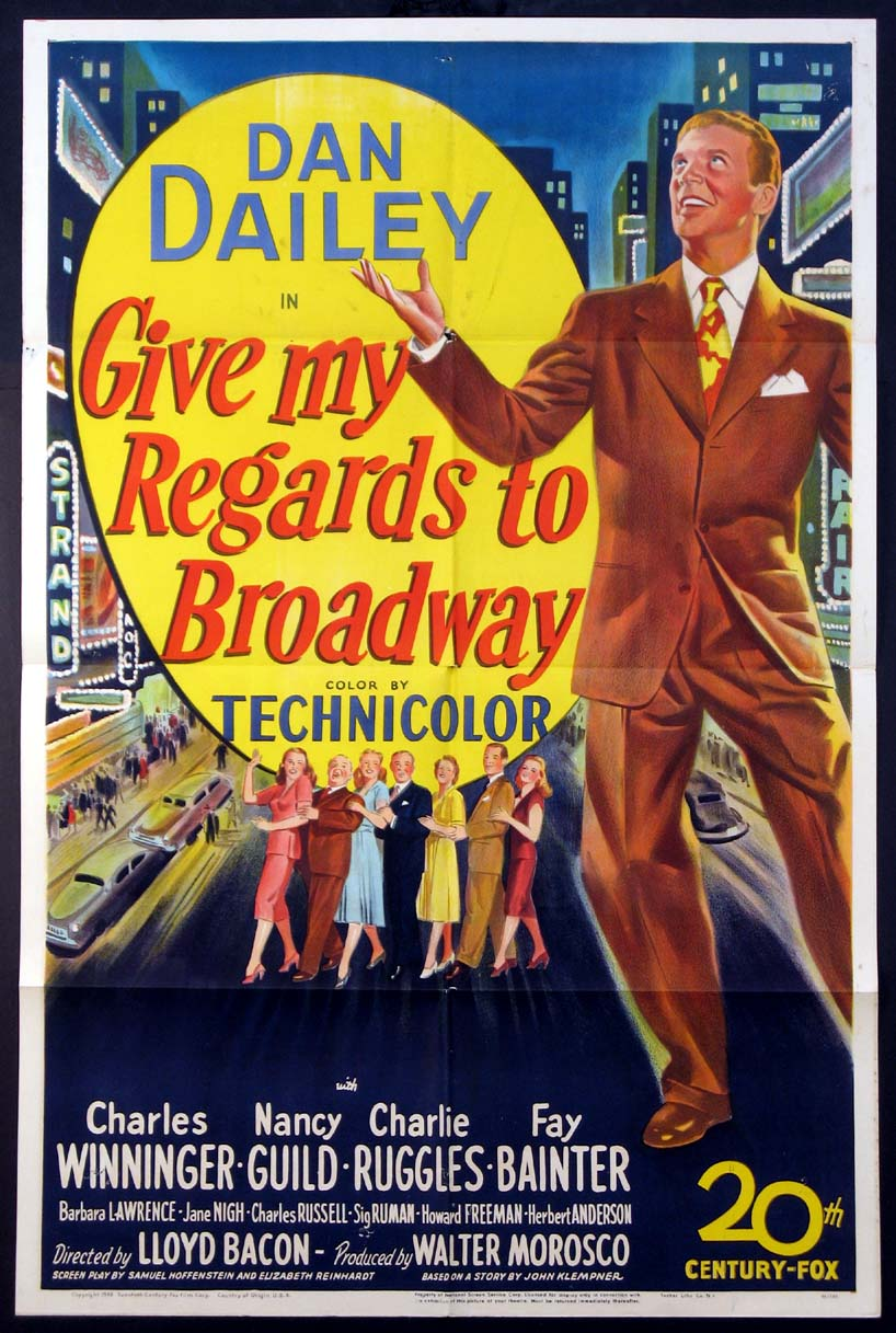 GIVE MY REGARDS TO BROADWAY @ FilmPosters.com