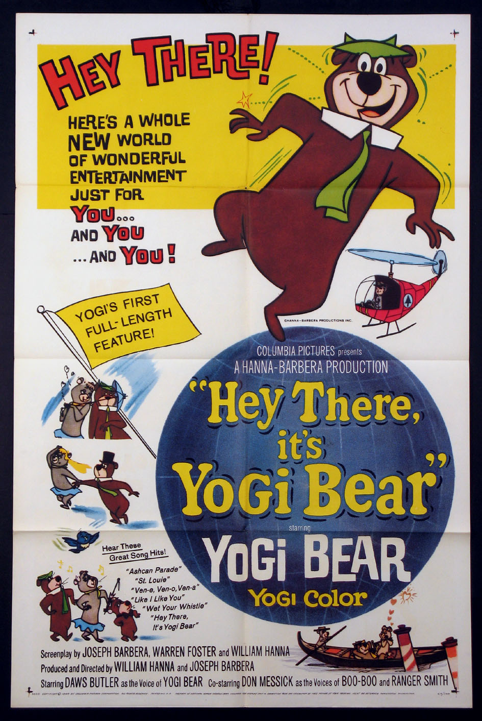 HEY THERE, IT'S YOGI BEAR @ FilmPosters.com