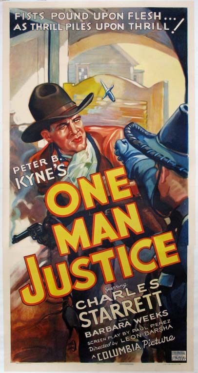 ONE MAN JUSTICE @ FilmPosters.com