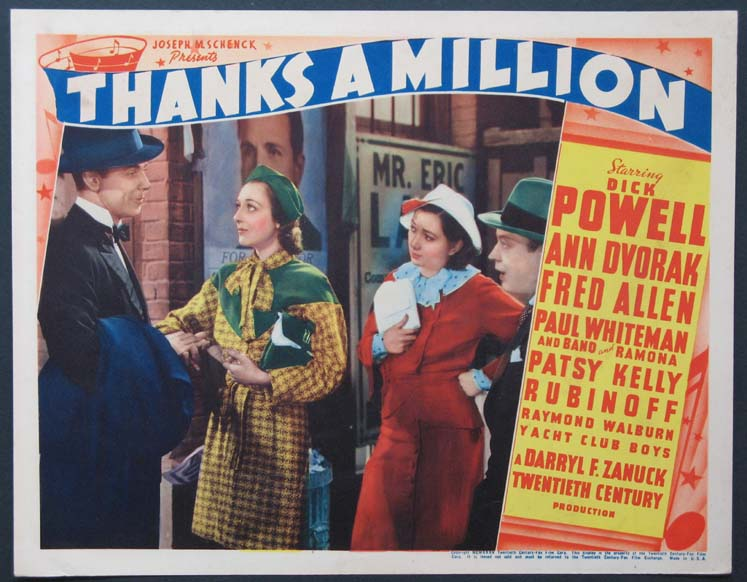 Image result for Thanks a Million movie poster