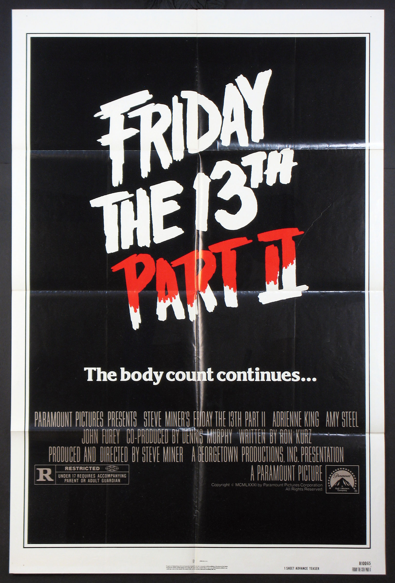 FRIDAY THE 13TH PART 2 (Thirteenth) @ FilmPosters.com