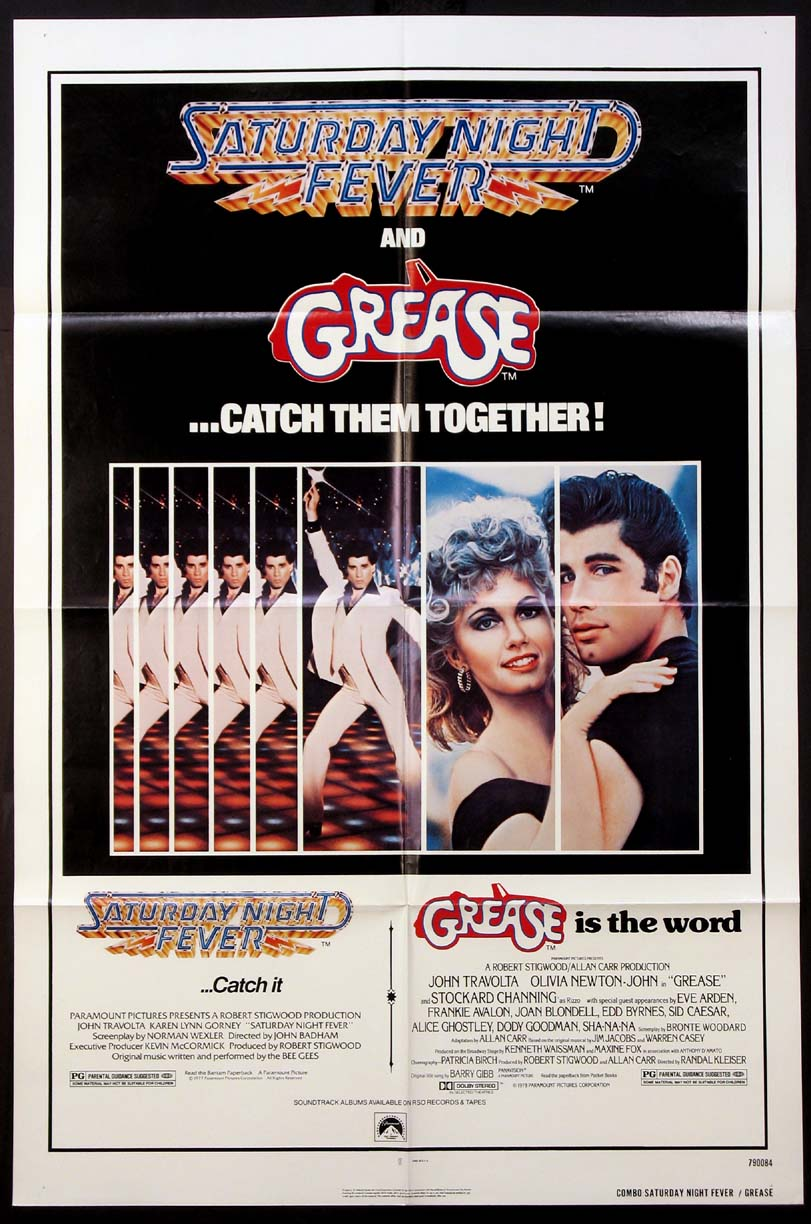 SATURDAY NIGHT FEVER / GREASE @ FilmPosters.com