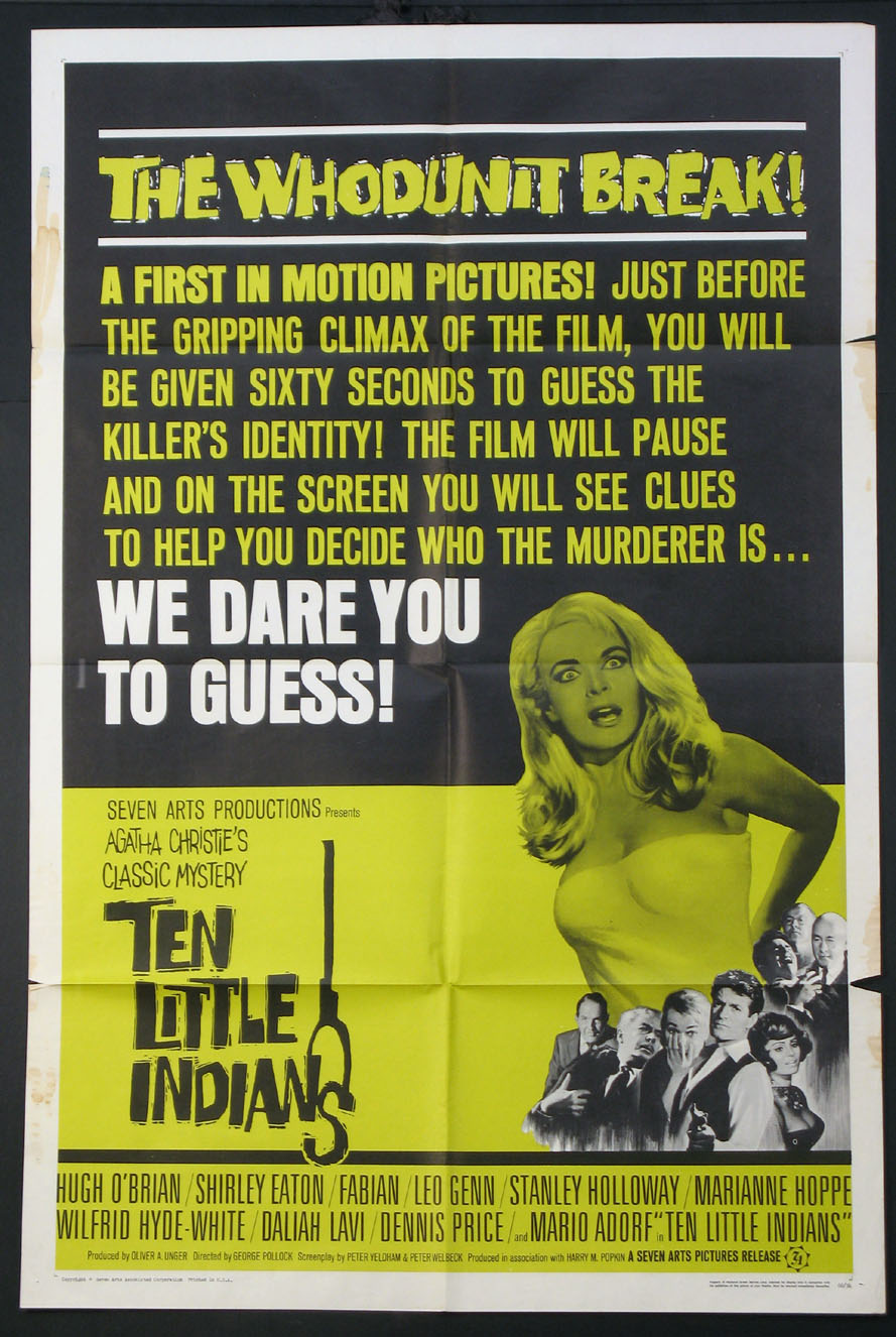 TEN LITTLE INDIANS @ FilmPosters.com