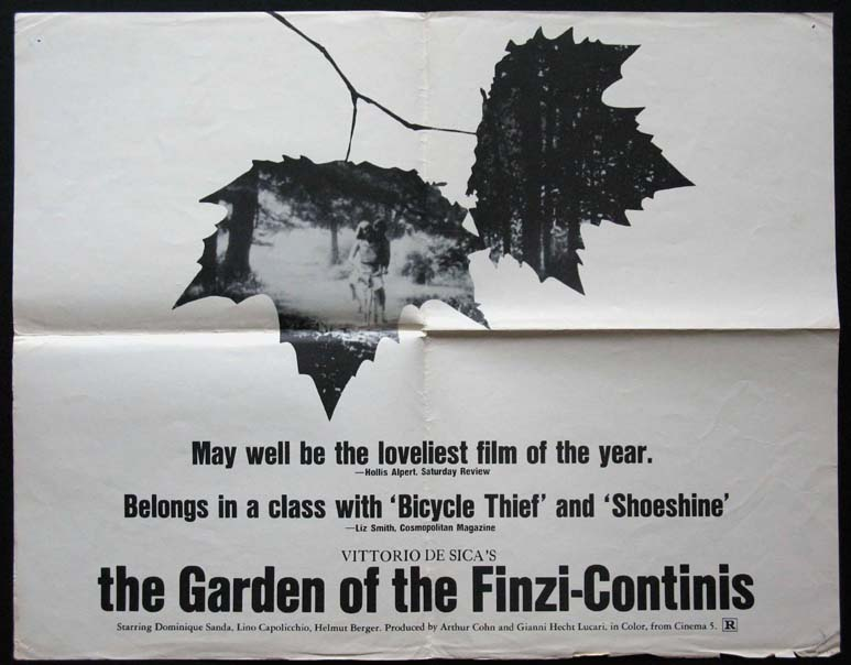 GARDEN OF THE FINZI-CONTINIS @ FilmPosters.com