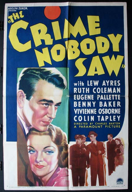 CRIME NOBODY SAW, THE @ FilmPosters.com
