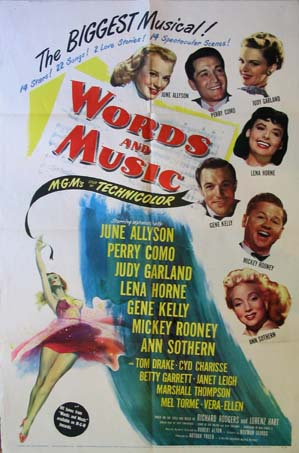 WORDS AND MUSIC @ FilmPosters.com