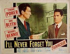 I'LL NEVER FORGET YOU @ FilmPosters.com