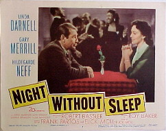 NIGHT WITHOUT SLEEP @ FilmPosters.com