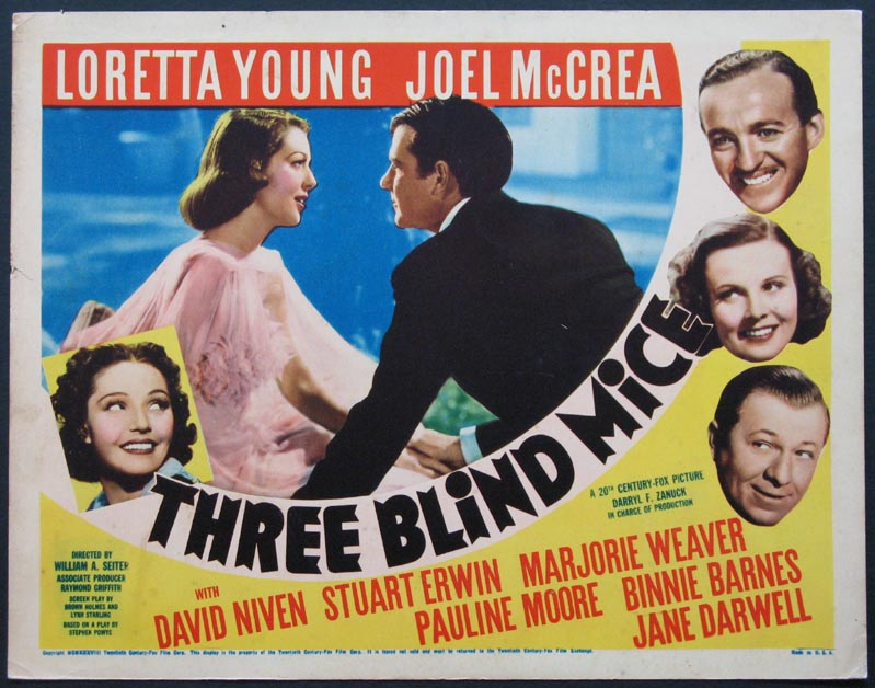 THREE BLIND MICE @ FilmPosters.com