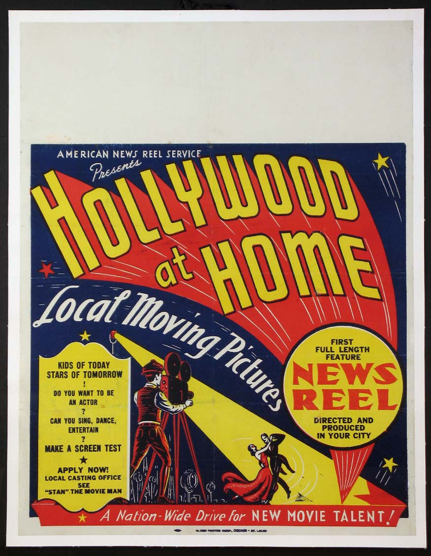 HOLLYWOOD AT HOME: NEWSREEL @ FilmPosters.com