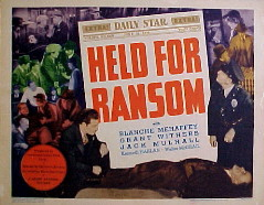 HELD FOR RANSOM @ FilmPosters.com