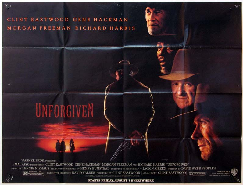 UNFORGIVEN Movie Poster (1992)